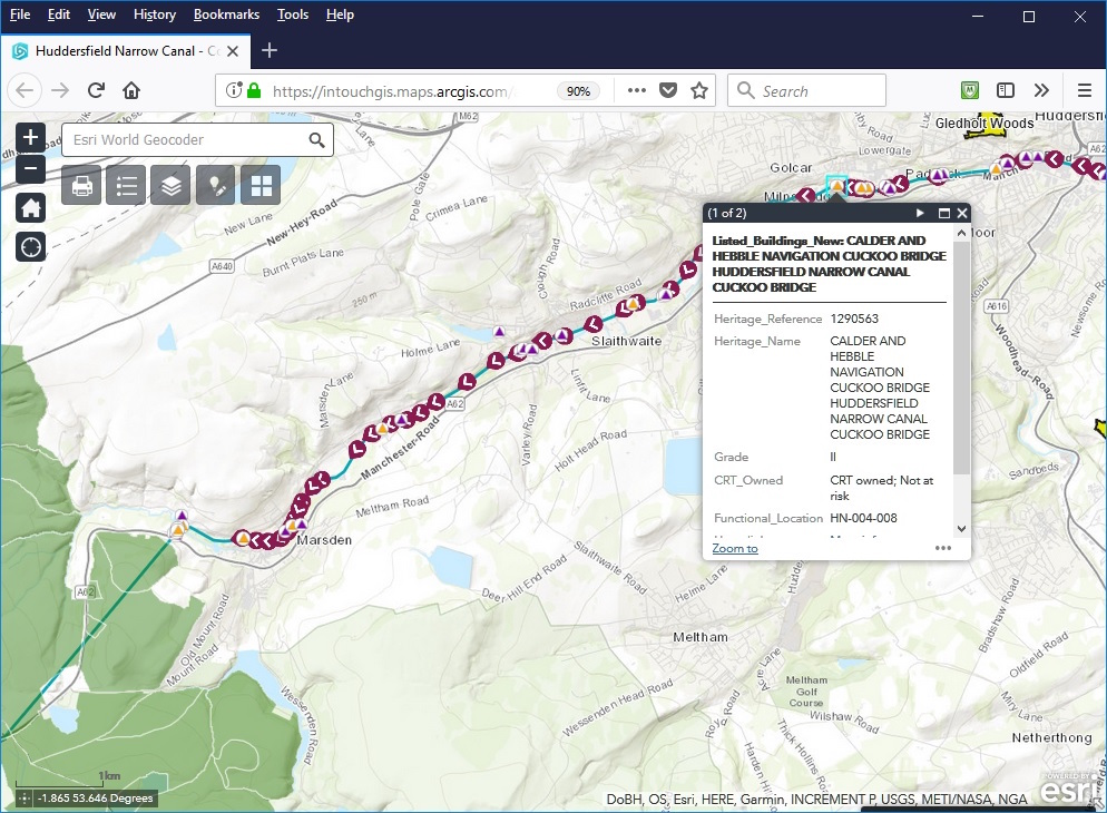 An online interactive web map